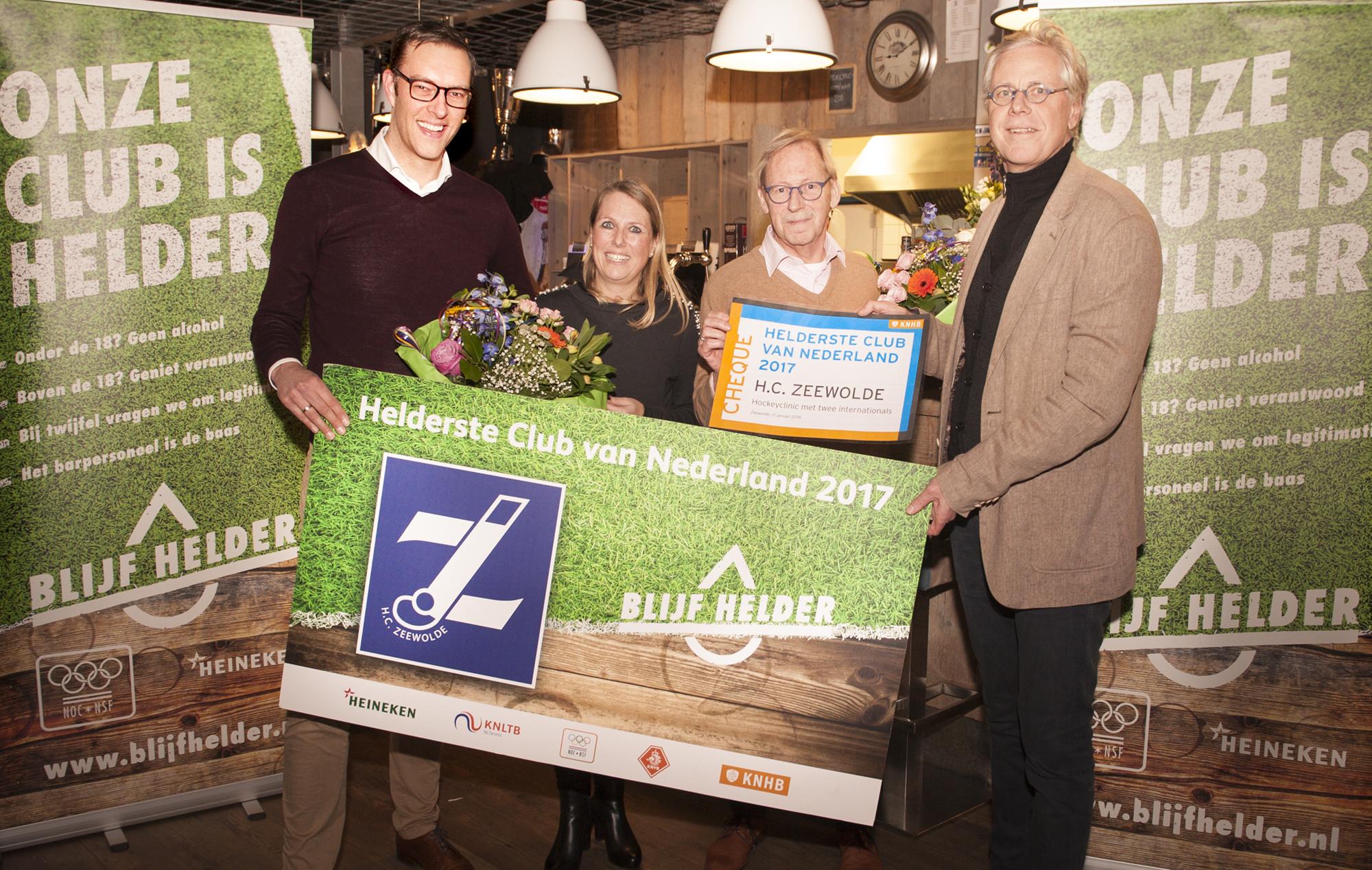H.C. Zeewolde uitgeroepen tot 'Helderste Club van Nederland'