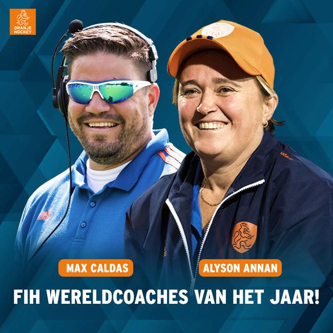 FIH roept Alyson Annan en Max Caldas uit tot Wereldcoach van het jaar