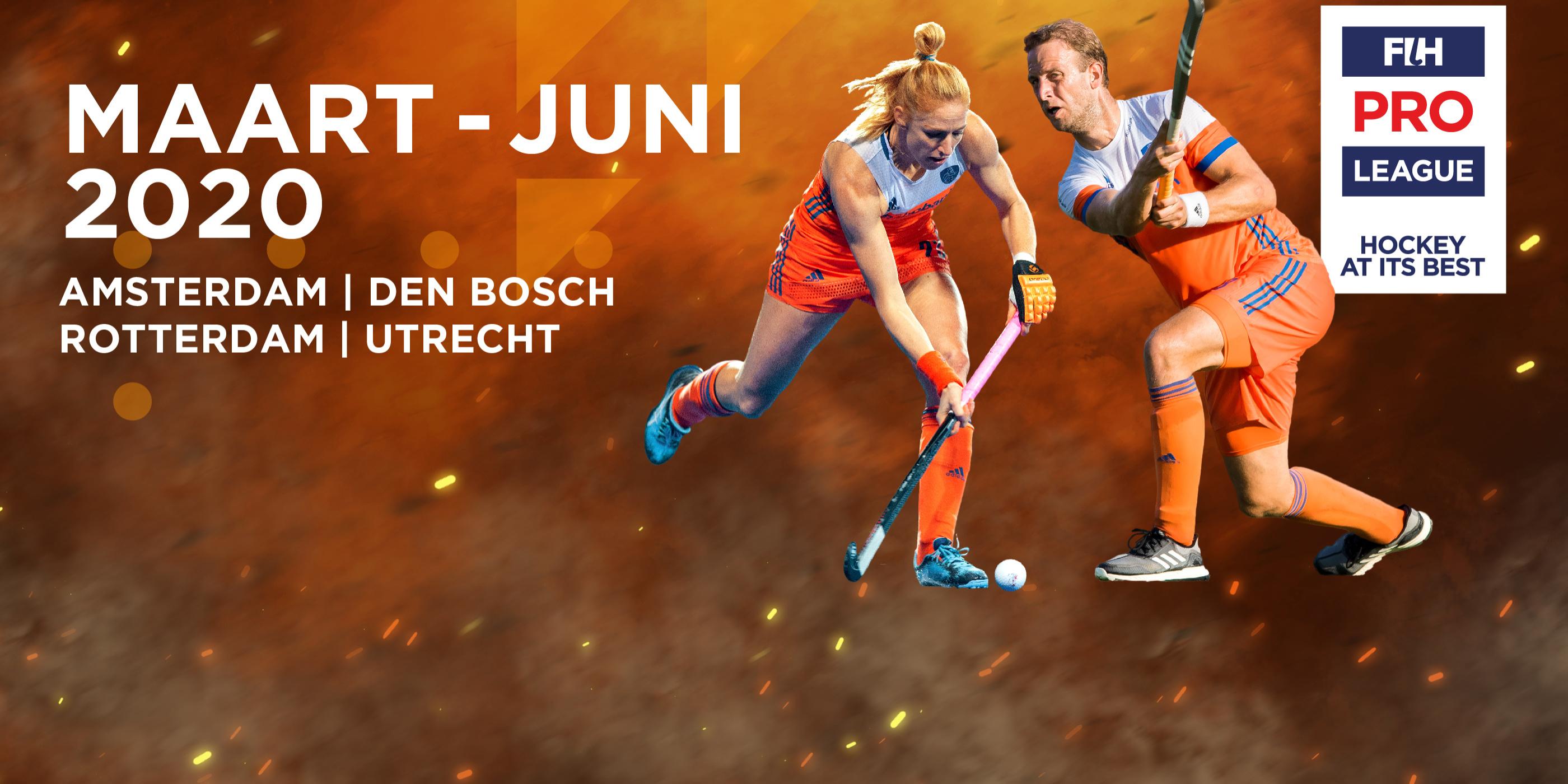 FIH Pro League 2020 in Rotterdam, Den Bosch, Utrecht en Amsterdam