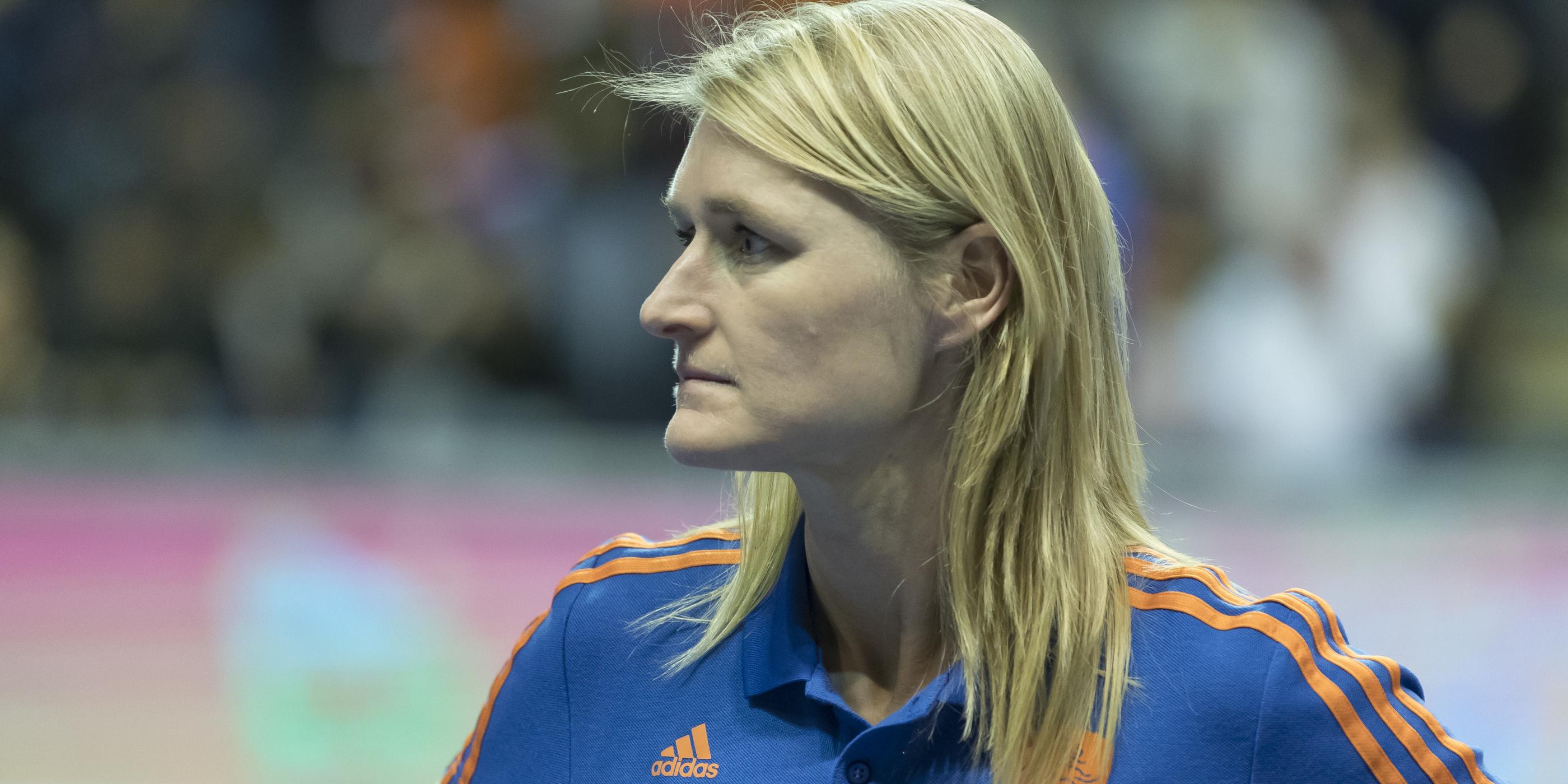 Marieke Dijkstra bondscoach Nederlands Elftal Heren Zaal